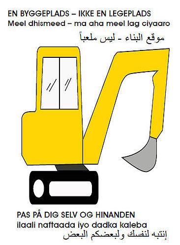 Pas på gravemaskinerne