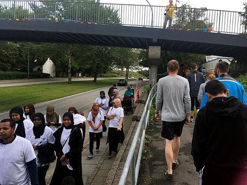 Over 100 deltog i stafetten i Gellerup