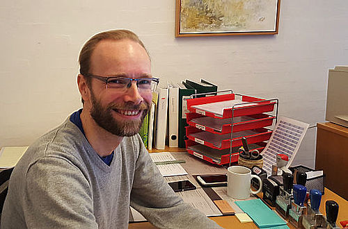 Ansigt på Gellerup Kirkes kirkekoordinator