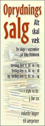 Bogsalg på Viby Bibliotek