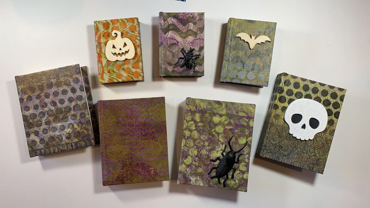 Journals printed with Halloween art