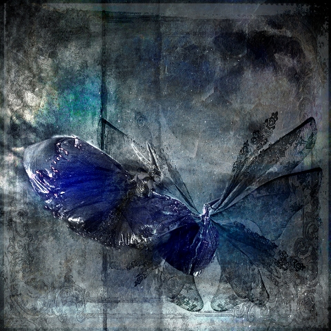 Magic in Blue - Square Illustrative composite photography by Deb Gartland