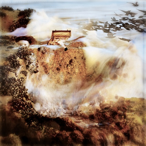 Washed Ashore - Square Illustrative composite photography by Deb Gartland