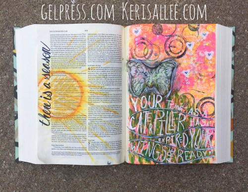 Bible Journaling with Gel Press by Keri Sallee