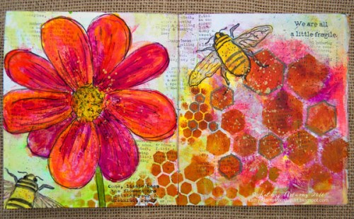 Gel Press Spring Book by Kathy Adams pages 7-8