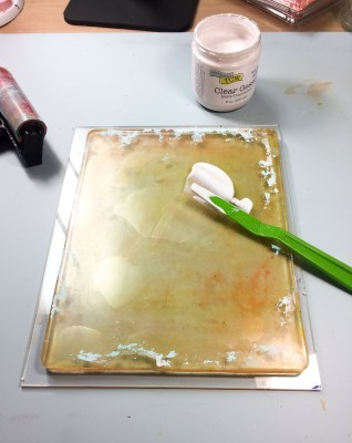 Clear Gesso on Gel Press plate