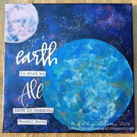 Creating Earth With The 8″ Round Gel Press® Plate