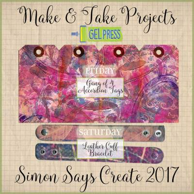 Gel Press Make n Take Projects for Simon Says CREATE event