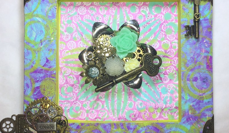 Gel Press Shadowbox by Keri Sallee
