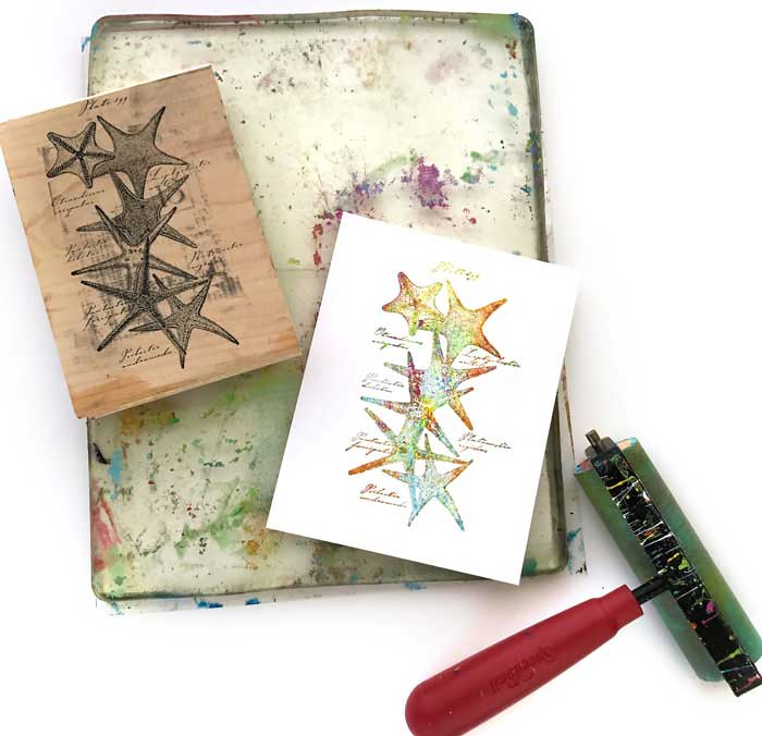 Gel Press workshop with Carolyn Dube