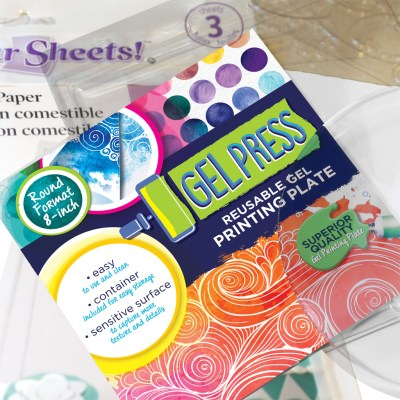 Gel Press Printing on Food with Sugar Sheets and Food Coloring