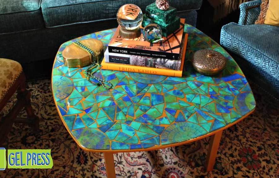 DIY 60s Inspired Mosaic Table by Mark Montano for Gel Press