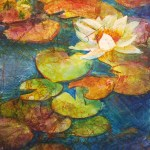 Batik on Rice Paper Artwork by Kathie George for Gel Press