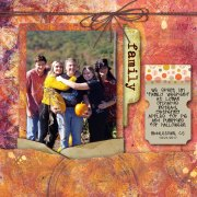 Gel Press Scrapbook Layout by Sally Lynn MacDonald