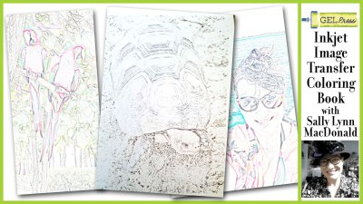 Inkjet Image Transfer Coloring Book with Sally Lynn MacDonald