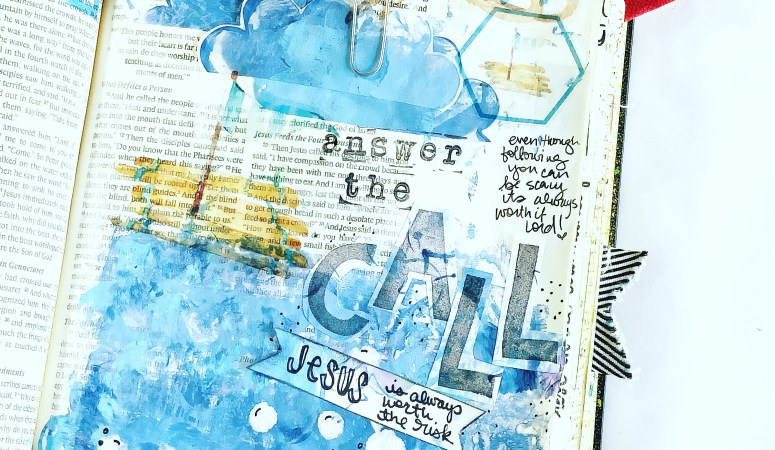 The Call | Bible Journaling Faith Impressions Page