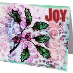 Holiday Greeting Cards with Gel Press
