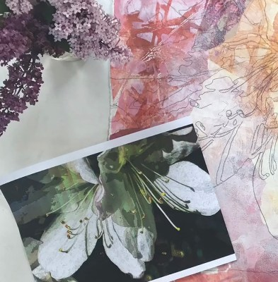Painting White with Gel Press Prints by Trish McKinney