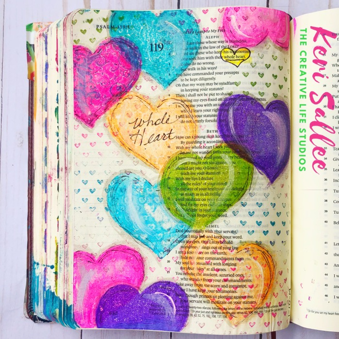 Bible Journaling with Distress Inks