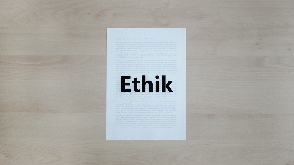 Video Game Journalism – It's All About Ethics - Ethik