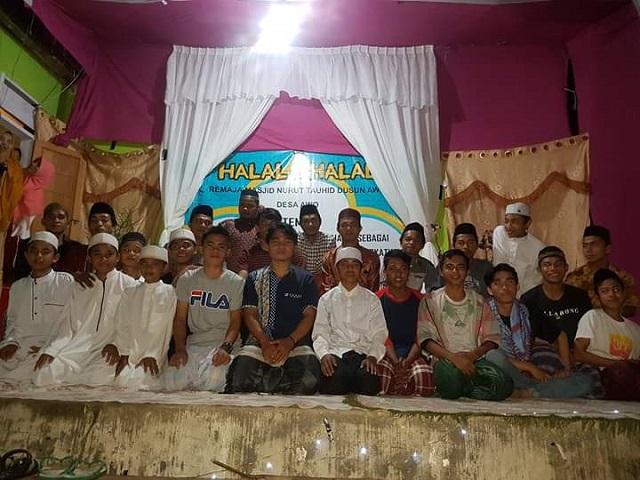 Remaja Masjid dan Pemdes Awo Gelar Halal Bihalal