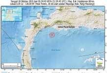 Gempa Magnitudo 3,4 Guncang Mepanga Parigi Moutong