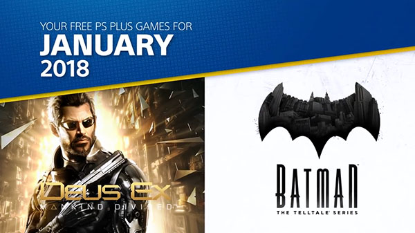 PlayStation Plus free games for January 2018