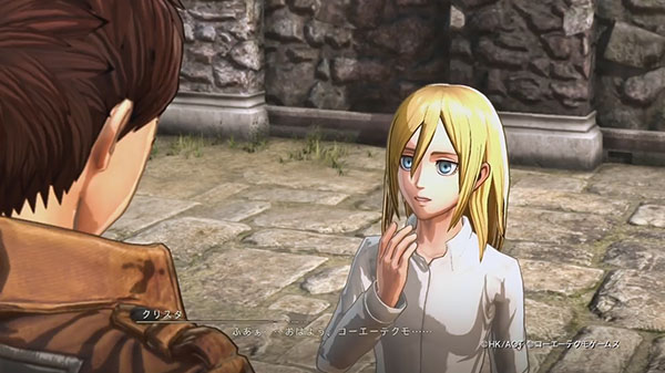 Koei Tecmos Attack On Titan 2 Krista And Ymir Civilian Clothes Gameplay Gematsu