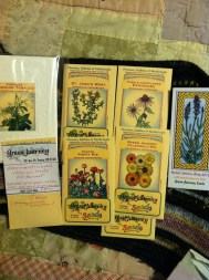 Seeds of calendula, st. john's wort, poppy, echinacea, and tobacco from Green Journey Seeds!