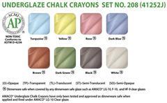 lg1 462 - Underglaze Chalk Crayon Set #208