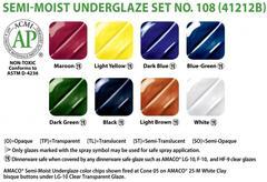 lg2 461 - Semi-Moist Underglaze Set #108