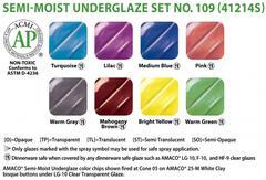 lg3 461 - Semi-Moist Underglaze Set #109