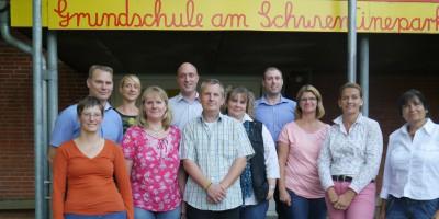 Die Gründungsmitglieder des neuen Fördervereins, darunter Michael Breuer (links) als Vorsitzender und die kommissarische Schulleiterin Kirstin von Ketelhodt (Zweite von rechts). Foto Verein