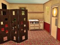 Obergeschoss mit Toiletten und Wickeltisch