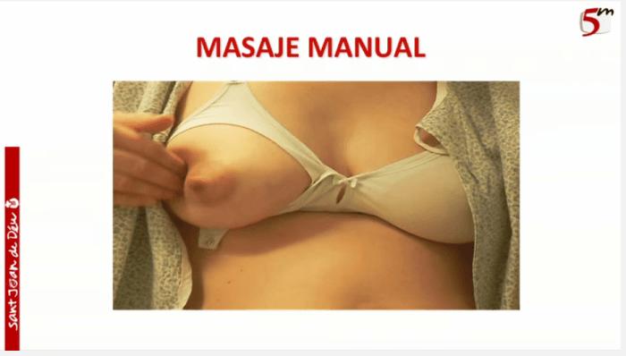 masajear extraccón de leche