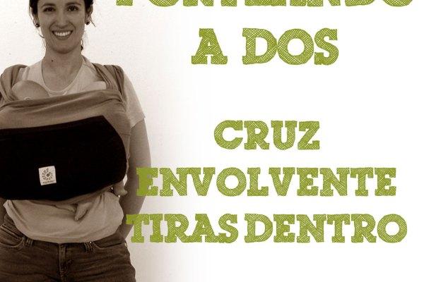 Fular elástico, Cruz envolvente con las tiras por dentro #PorteandoaDos
