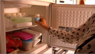 conservación de la leche materna en congelador