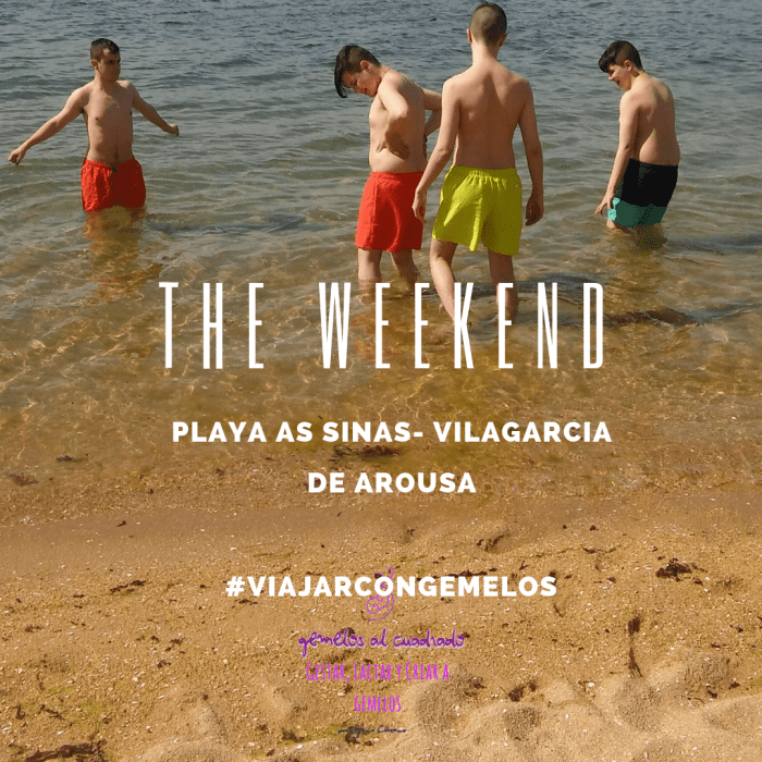 Las vacaciones en Galicia tuvieron su remojo en la playa de As Sinás