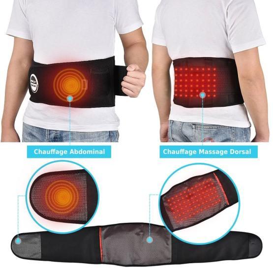 einture Lombaire Anti douleur chauffage avant arrière massage dorsal