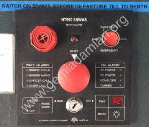 BNWAS Watch Alarm Unit