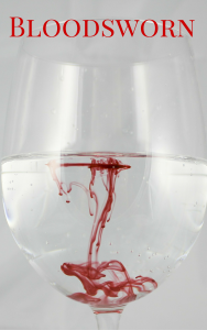 Image of a blood dripping into a wine glass filled with water