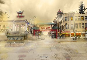 Image of Light Painting Chinatown