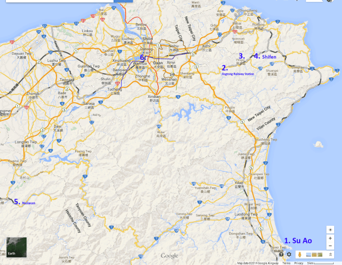 northern taiwan map