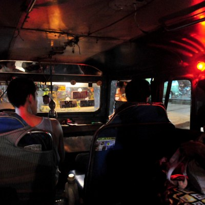 Jeepney interiors at night