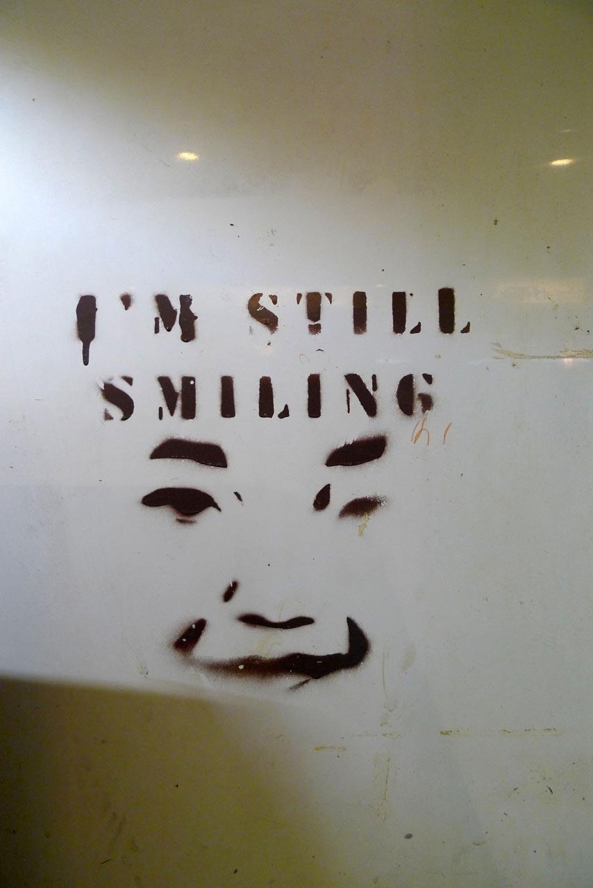 I'm still smiling stencil