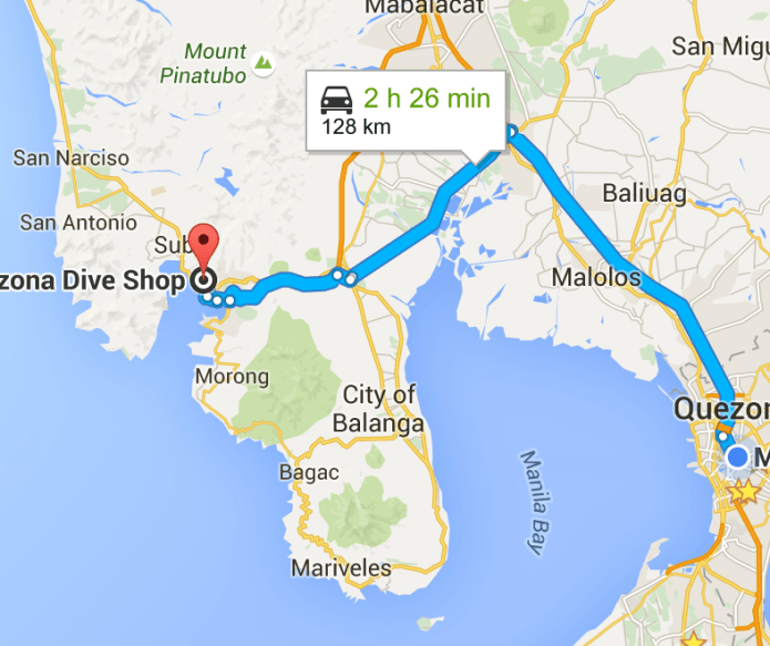 map to subic
