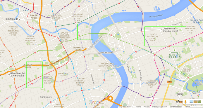 map of Shanghai