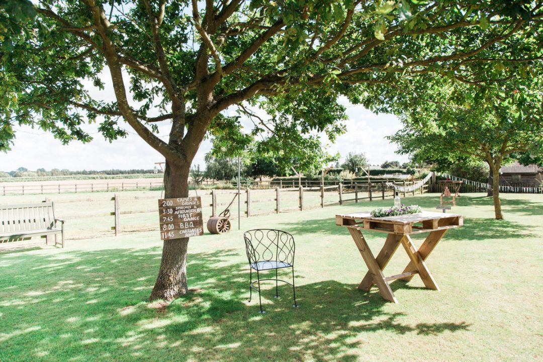 Coggeshall garden wedding set-up