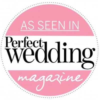 As seen in perfect wedding magazine logo