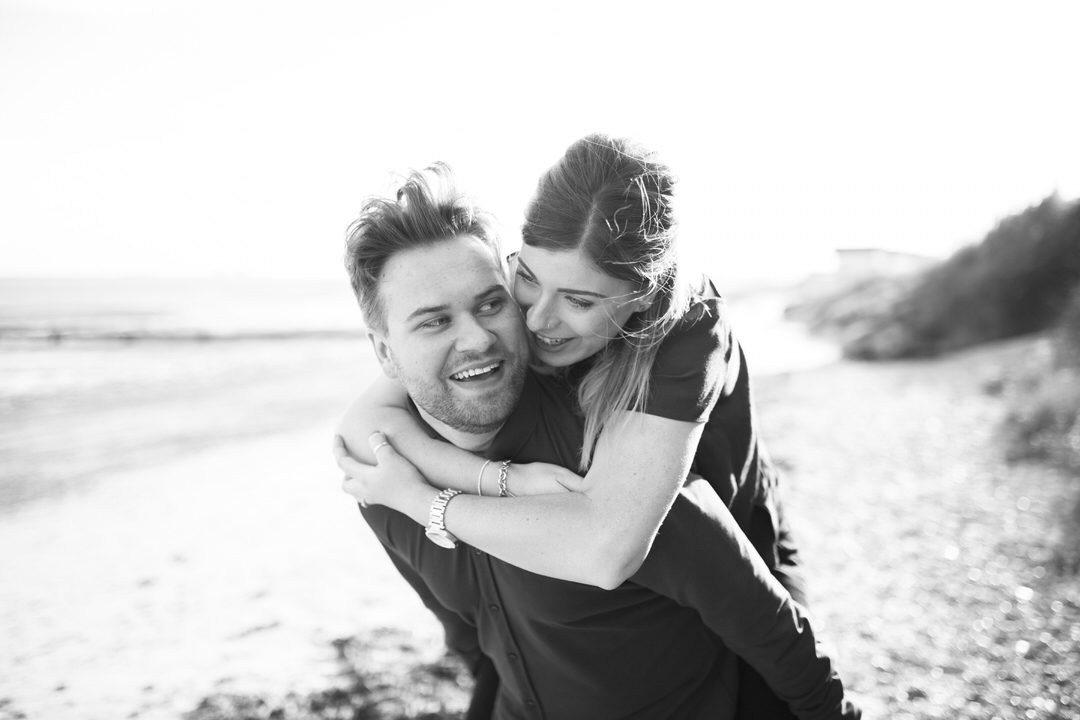 Essex beach engagement shoot